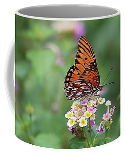 Coffee Mug featuring the photograph Butterfly Posing by Ellen Barron O'Reilly