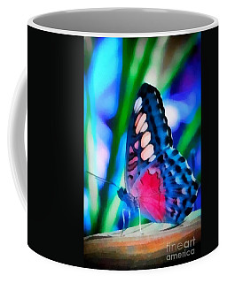 Coffee Mug featuring the painting Butterfly Realistic Painting by Catherine Lott