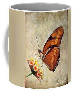 Coffee Mug featuring the pyrography Butterfly by Savannah Gibbs