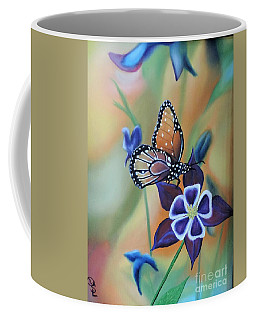 Coffee Mug featuring the painting Butterfly Series#4 by Dianna Lewis