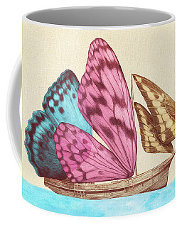 Butterfly Ship Coffee Mug