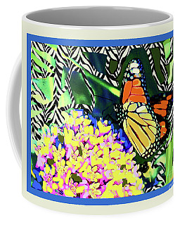 Butterfly Stripes Coffee Mug