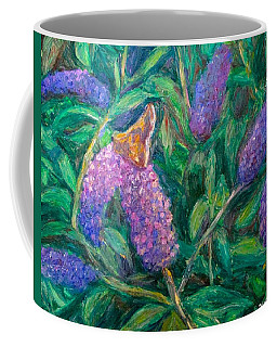 Coffee Mug featuring the painting Butterfly View by Kendall Kessler