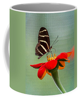 Butterfly Zebra Longwing On Zinnia Coffee Mug