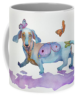 Butterfly Doxie Doo Coffee Mug