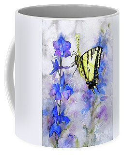 Coffee Mug featuring the painting Butteryfly Delight by Bonnie Rinier