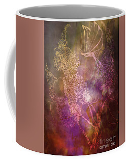 Buttetfly Blossoms Coffee Mug by Maria Urso