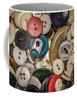 Coffee Mug featuring the photograph Buttons And Buttons by Ray Congrove
