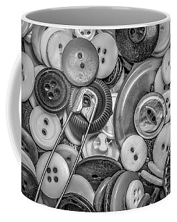 Coffee Mug featuring the photograph Buttons In Black And White by Ray Congrove