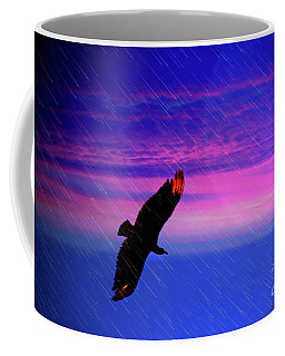 Buzzard In The Rain Coffee Mug by Al Bourassa