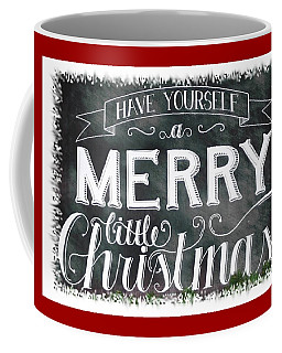 Coffee Mug featuring the photograph Bw Holiday Greetings by Ellen Barron O'Reilly