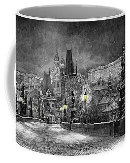 Bw Prague Charles Bridge 06 Coffee Mug