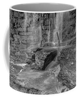 Bw Rock Wall Waterfall Coffee Mug