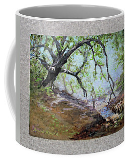 Coffee Mug featuring the painting By The Creek by Bonnie Rinier
