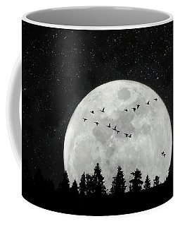 By The Light Of The Silvery Moon - Birds  Coffee Mug