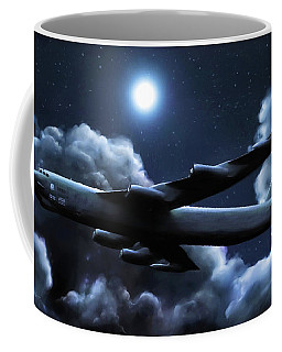Coffee Mug featuring the painting By The Light Of The Silvery Moon by Dave Luebbert