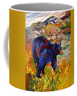 By The River - Black Bear Coffee Mug