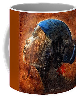 Coffee Mug featuring the painting By Your Faith by Christopher Marion Thomas