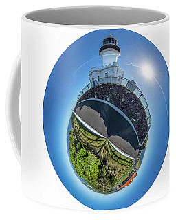 Coffee Mug featuring the photograph Byron Bay Lighthouse by Chris Cousins
