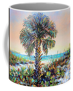 Cabbage Palm On Siesta Key Beach Coffee Mug by Lou Ann Bagnall