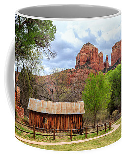 Coffee Mug featuring the photograph Cabin At Cathedral Rock by James Eddy
