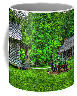 Coffee Mug featuring the photograph Cabin Fever Great Smoky Mountains Art by Reid Callaway
