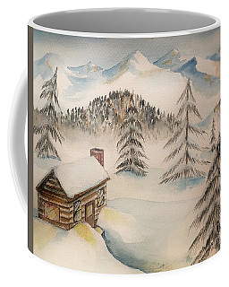 Cabin In The Rockies Coffee Mug