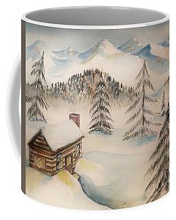 Cabin In The Rockies Coffee Mug