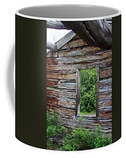 Cabin Window Coffee Mug