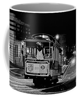 Cable Car At Night - San Francisco Coffee Mug