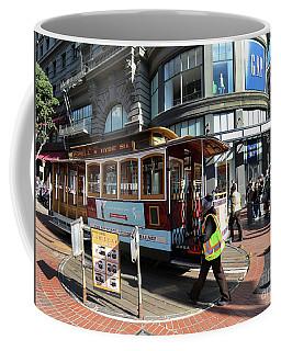 Cable Car At Union Square Coffee Mug