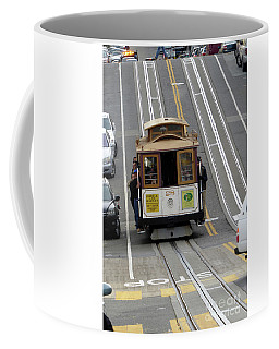 Coffee Mug featuring the photograph Cable Car by Steven Spak