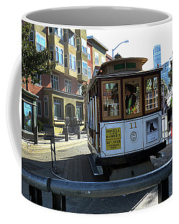 Coffee Mug featuring the photograph Cable Car Turnaround by Steven Spak