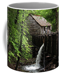 Coffee Mug featuring the photograph Cable Grist Mill by Andrea Silies