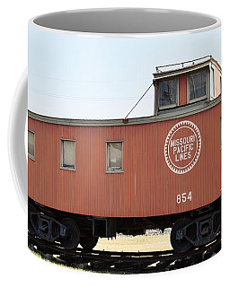 Coffee Mug featuring the photograph Caboose by Ray Shrewsberry