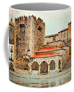 Caceres Spain Artistic Coffee Mug