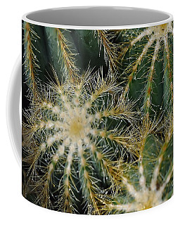 Coffee Mug featuring the photograph Cacti   Water Drops by Elaine Manley