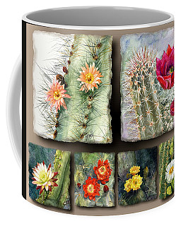 Coffee Mug featuring the painting Cactus Collage 10 by Marilyn Smith