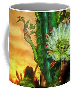 Cactus Flower At Sunrise Coffee Mug