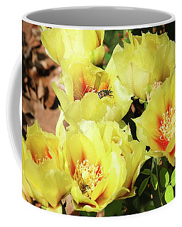 Cactus Flowers And Friend Coffee Mug by Sheila Brown
