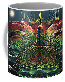 Coffee Mug featuring the digital art Cactus Flowers by Mary Almond