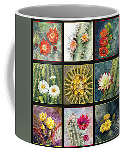 Coffee Mug featuring the painting Cactus Series by Marilyn Smith