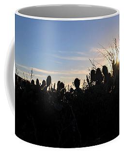 Coffee Mug featuring the photograph Cactus Silhouettes by Matt Harang