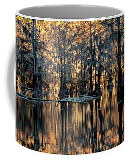 Caddo Lake Sunrise Coffee Mug by Iris Greenwell