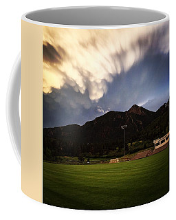 Coffee Mug featuring the photograph Cadet Soccer Stadium by Christin Brodie