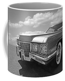 Cadillac Coupe De Ville 1971 In Black And White Coffee Mug