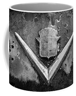 Cadillac Emblem On Rusted Hood Coffee Mug