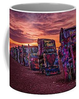 Cadillac Ranch At Sunrise  Coffee Mug