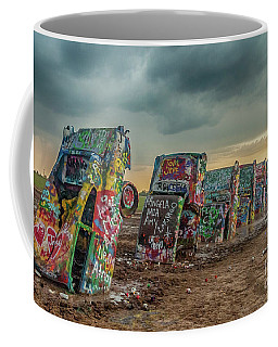 Cadillac Ranch Before The Rain Coffee Mug