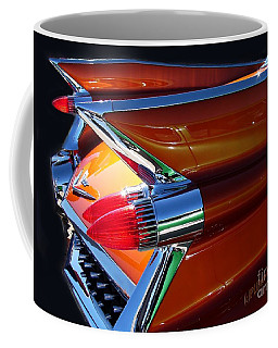 Coffee Mug featuring the photograph Cadillac Tail Fin View by Patricia L Davidson
